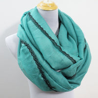Large Soft Teal Infinity Scarf - Bean Concept - Etsy