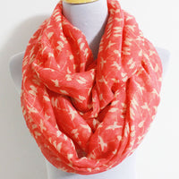 Coral Pink Little Bird Infinity Scarf - Bean Concept - Etsy