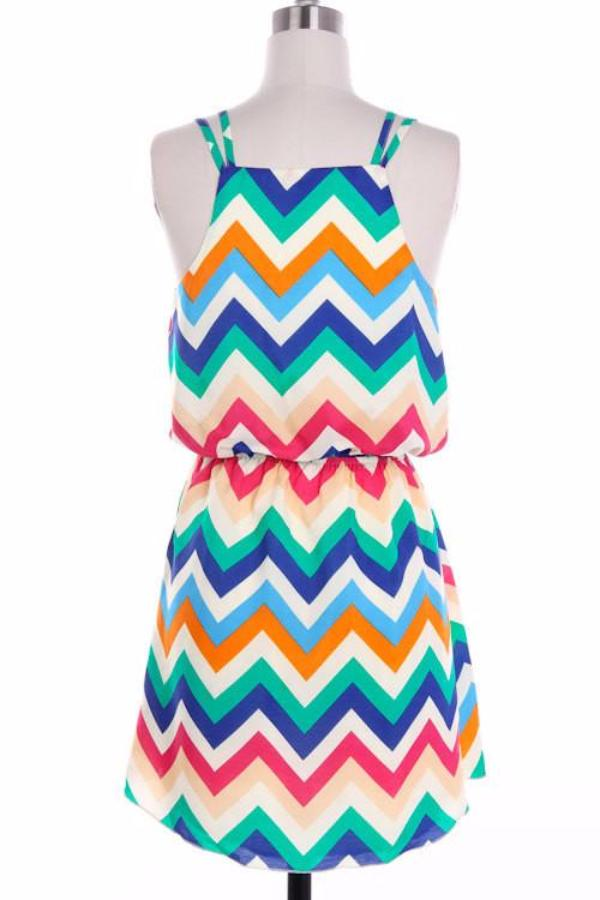 Colorful Tank Top Chevron Dress - Bean Concept - Etsy