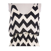 Navy Tank Top Chevron Dress - Bean Concept - Etsy