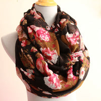 Rose Infinity Scarf - Bean Concept - Etsy