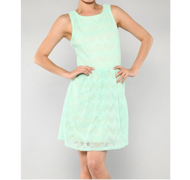 Mint Chevron Cocktail Short Dress - Bean Concept - Etsy