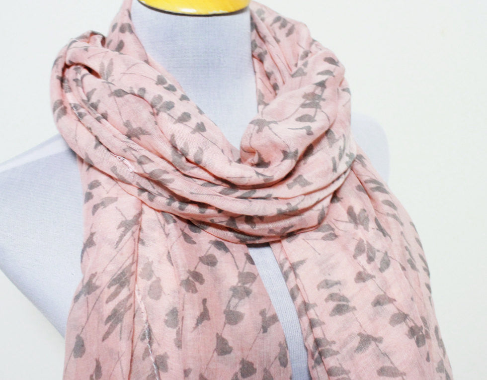 Rose Pink Bird Scarf - Bean Concept - Etsy