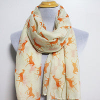 Orange Horse Scarf - Bean Concept - Etsy
