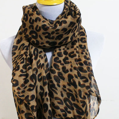 Brown Leopard Scarf - Bean Concept - Etsy