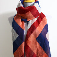 Chevron and Color Block Scarf - Bean Concept - Etsy
