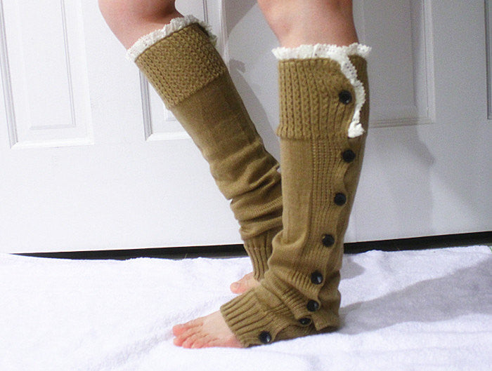 Lace Knitted Leg Warmers - Bean Concept - Etsy