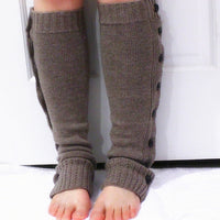 Black Chunky Knitted Leg Warmers with Buttons - Bean Concept - Etsy