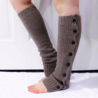Dark Brown Chunky Knitted Leg Warmers - Bean Concept - Etsy