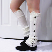 White Lace Leg Warmers - Bean Concept - Etsy