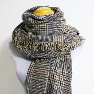 Gray Plaid Blanket Scarf - Bean Concept - Etsy