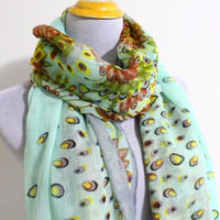 Mint Flower Infinity Scarf - Bean Concept - Etsy