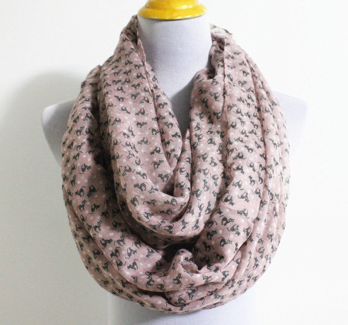 Mini Cat Infinity Scarf - Bean Concept - Etsy