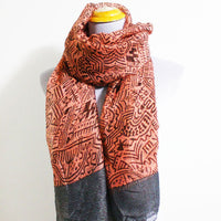 Pink Aztec Infinity Scarf - Bean Concept - Etsy