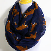 Navy Blue Fox Scarf - Bean Concept - Etsy