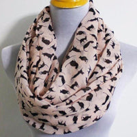 Beige Chiffon Cat Infinity Scarf - Bean Concept - Etsy