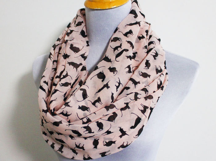 Pink Cat Scarf - Bean Concept - Etsy