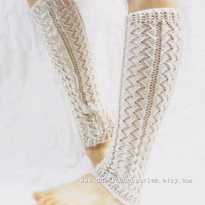 Off White Knitted Leg Warmers - Bean Concept - Etsy