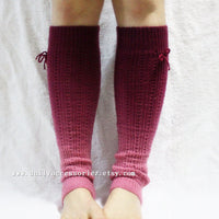 Soft Ombre Knitted Leg Warmers - Bean Concept - Etsy
