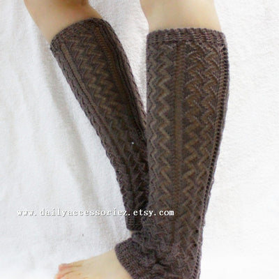 Wheat Knitted Leg Warmers - Bean Concept - Etsy
