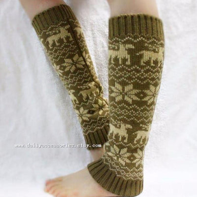 Thick Knitted Leg Warmers