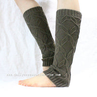 Taupe Brown Knitted Leg Warmers - Bean Concept - Etsy