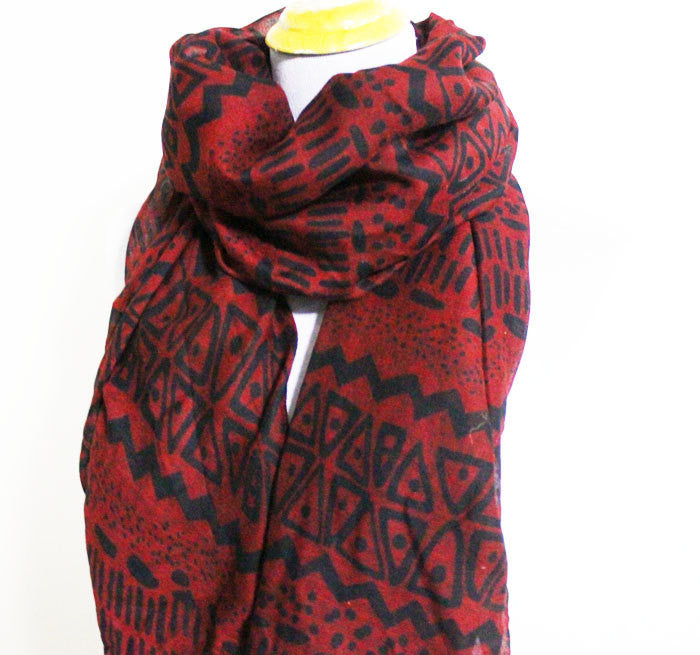Ancient Egyptian Pattern Infinity Scarf - Bean Concept - Etsy