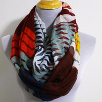 Burgundy Red Chevron Infinity Scarf - Bean Concept - Etsy