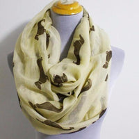 Beige Dachshunds Infinity Scarf - Bean Concept - Etsy
