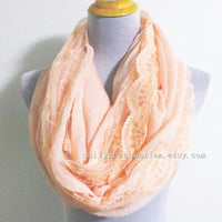Patchwork Lace Infinity Scarf - Bean Concept - Etsy