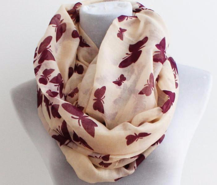 Butterfly Cozy Infinity Scarf - Bean Concept - Etsy
