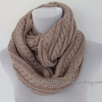 Chunky Cable Knit Soft Wheat Knit Scarf - Bean Concept - Etsy