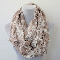 Taupe Infinity Scarf - Bean Concept - Etsy