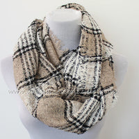Plaid Blanket Infinity Scarf - Bean Concept - Etsy