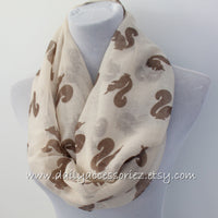 Squirrel Infinity Scarf - Bean Concept - Etsy