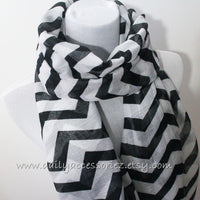Black and White ChevronScarf - Bean Concept - Etsy