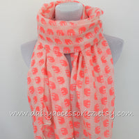 Coral Pink Elephant Infinity Scarf - Bean Concept - Etsy