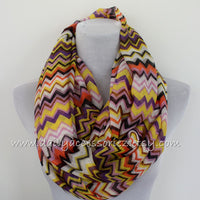 Chevron Color Block Infinity Scarf - Bean Concept - Etsy