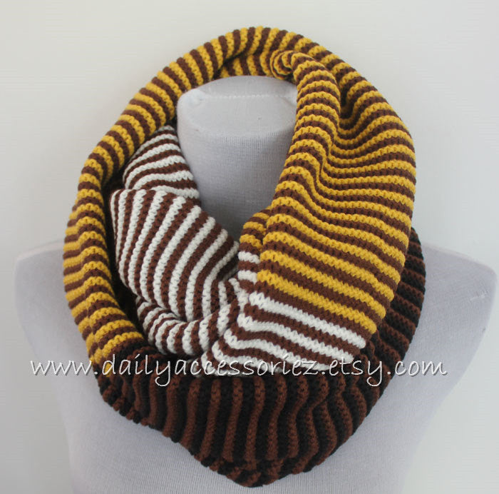 Unisex Knitted Infinity Scarf - Bean Concept - Etsy