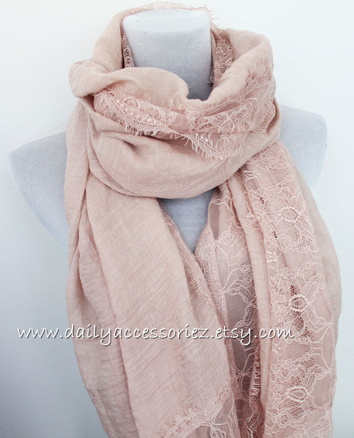 Soft Lace Infinity Scarf - Bean Concept - Etsy