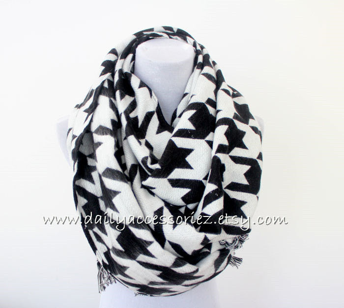 houndstooth Blanket Scarf - Bean Concept - Etsy