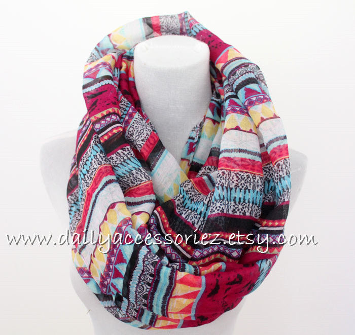 Geometric Infinity Scarf - Bean Concept - Etsy
