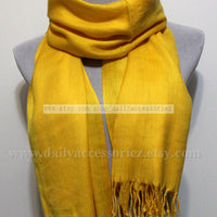 Golden Yellow Pashmina Infinity Scarf - Bean Concept - Etsy