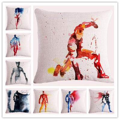 Watercolor Superhero Cushion Cover - Bean Concept - Etsy