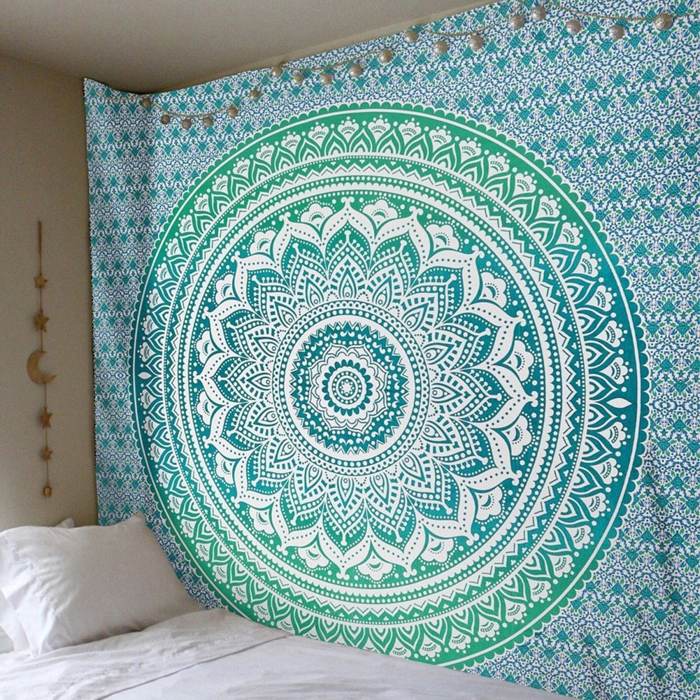 Green Indian Tapestry - Bean Concept - Etsy