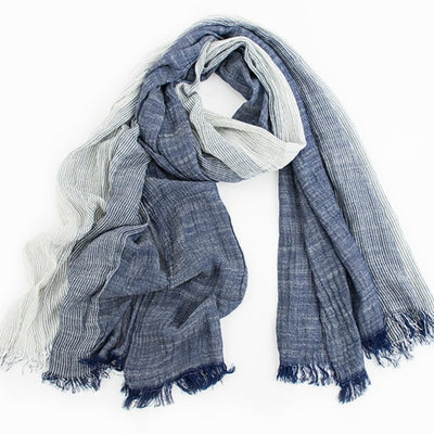Gray Plaid Woven Men Scarf