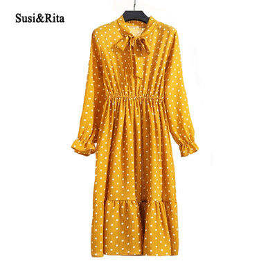 Vintage Looking Yellow Boho Dress