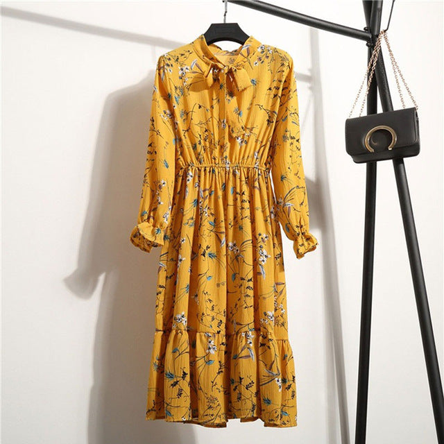 Vintage Looking Yellow Boho Dress - Bean Concept - Etsy