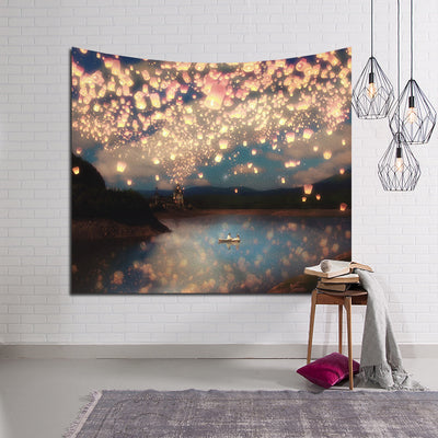Lantern Night Wall Tapestry
