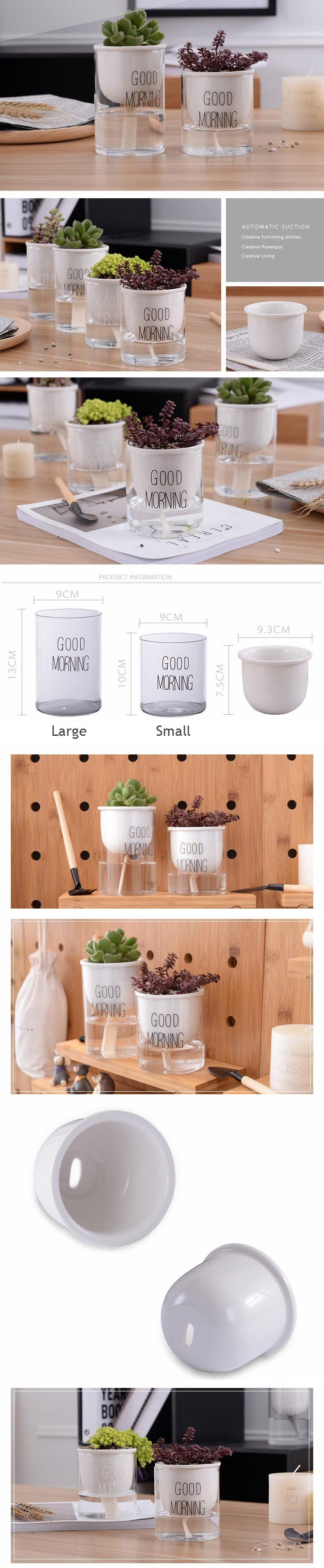Automatic Watering Plant Pot - Bean Concept - Etsy